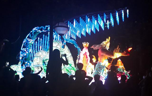 Electric Parade at Hong Kong Disneyland King Triton Ariel