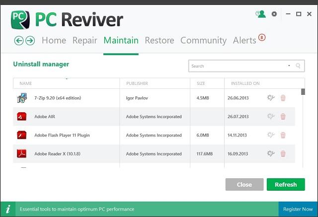 تحميل برنامج  صيانة الكمبيوتر بشكل كامل 3.3.3.6 PC Reviver آخر إصدار