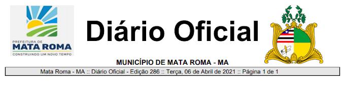 Prefeitura Municipal de Mata Roma publica novo decreto  Nº 23/2021 referente á Continuidade ao enfrentamento da Pandemia do Convid-19.
