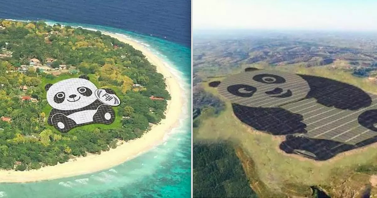 Chinese Company Builds Huge Solar-Power Plant Made To Look Like A Panda