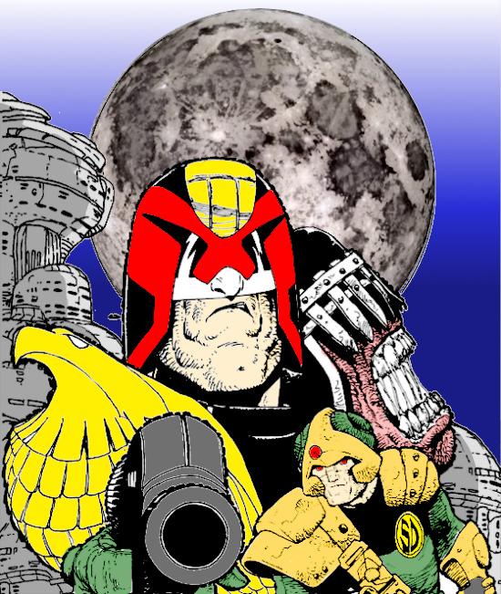 Colour with Carlos - Judge Dredd, Judge Death & Johnny Alpha