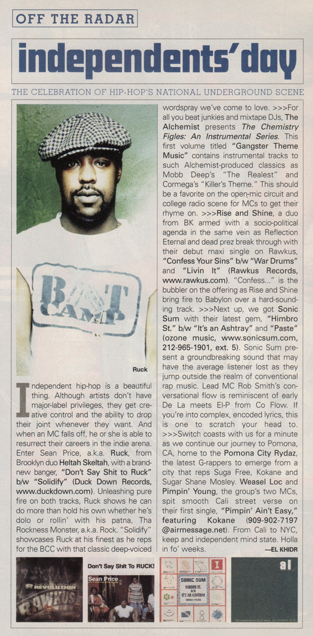Sean Price Off The Radar The Source 2001