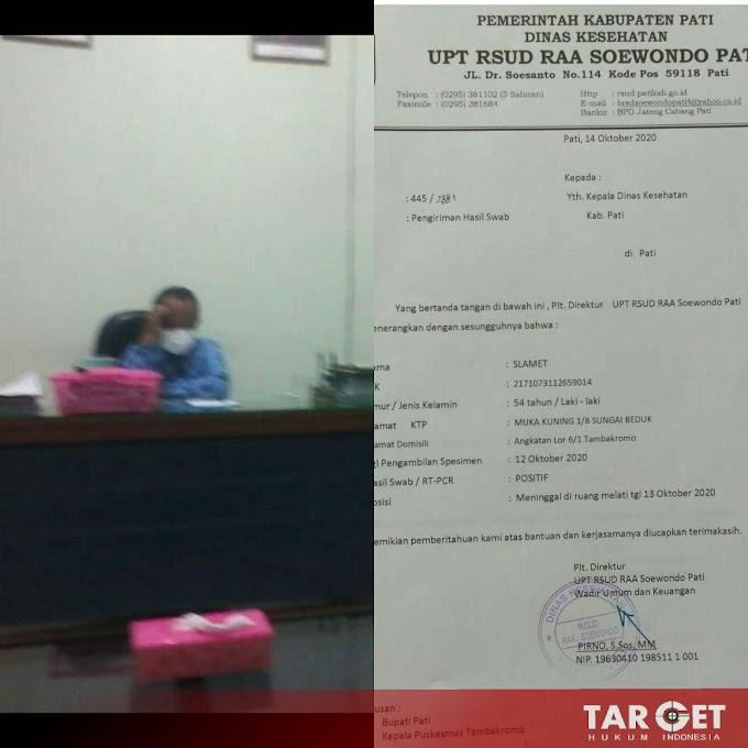 Tidak Terima Suami Dinyatakan Covid-19, Sukarti Kecewa Atas Pelayanan RSUD Soewondo PATI