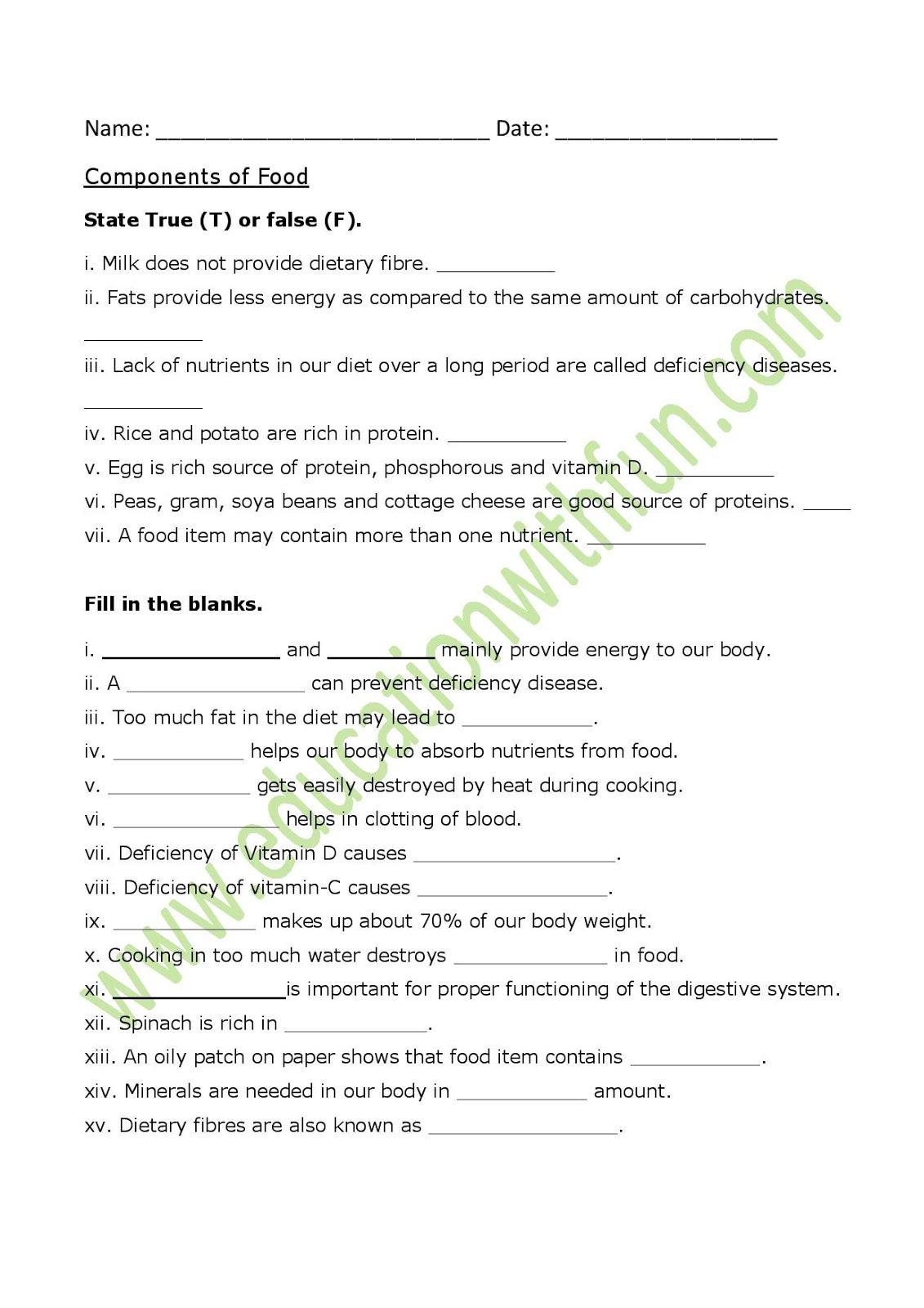 Class 6 Ch 2 Worksheet 1