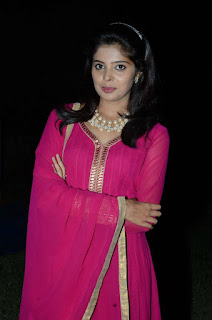 Actress Shravya Stills in Pink Salwar Kameez at Premikudu Movie Audio Launch  0039.jpg
