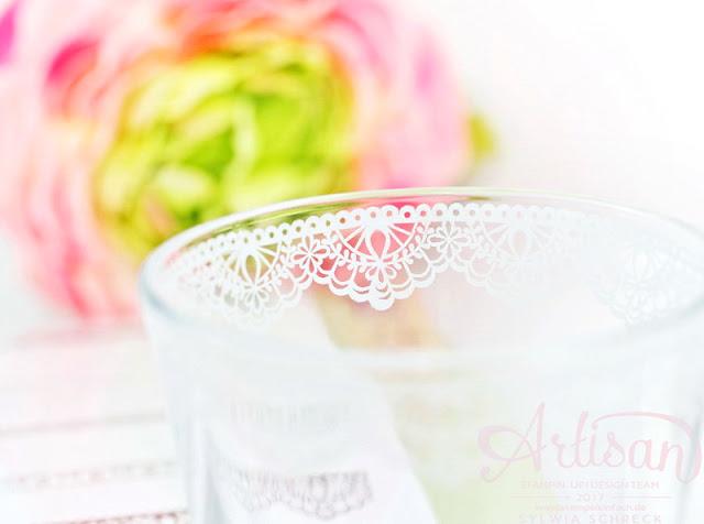 Delicate Details von Stampin up - Glas gestempelt - Sylwia Schreck