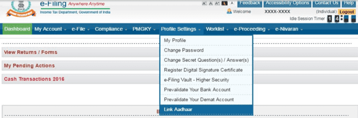 How to link income tax e-Filling consumer PAN card to Aadhaar number