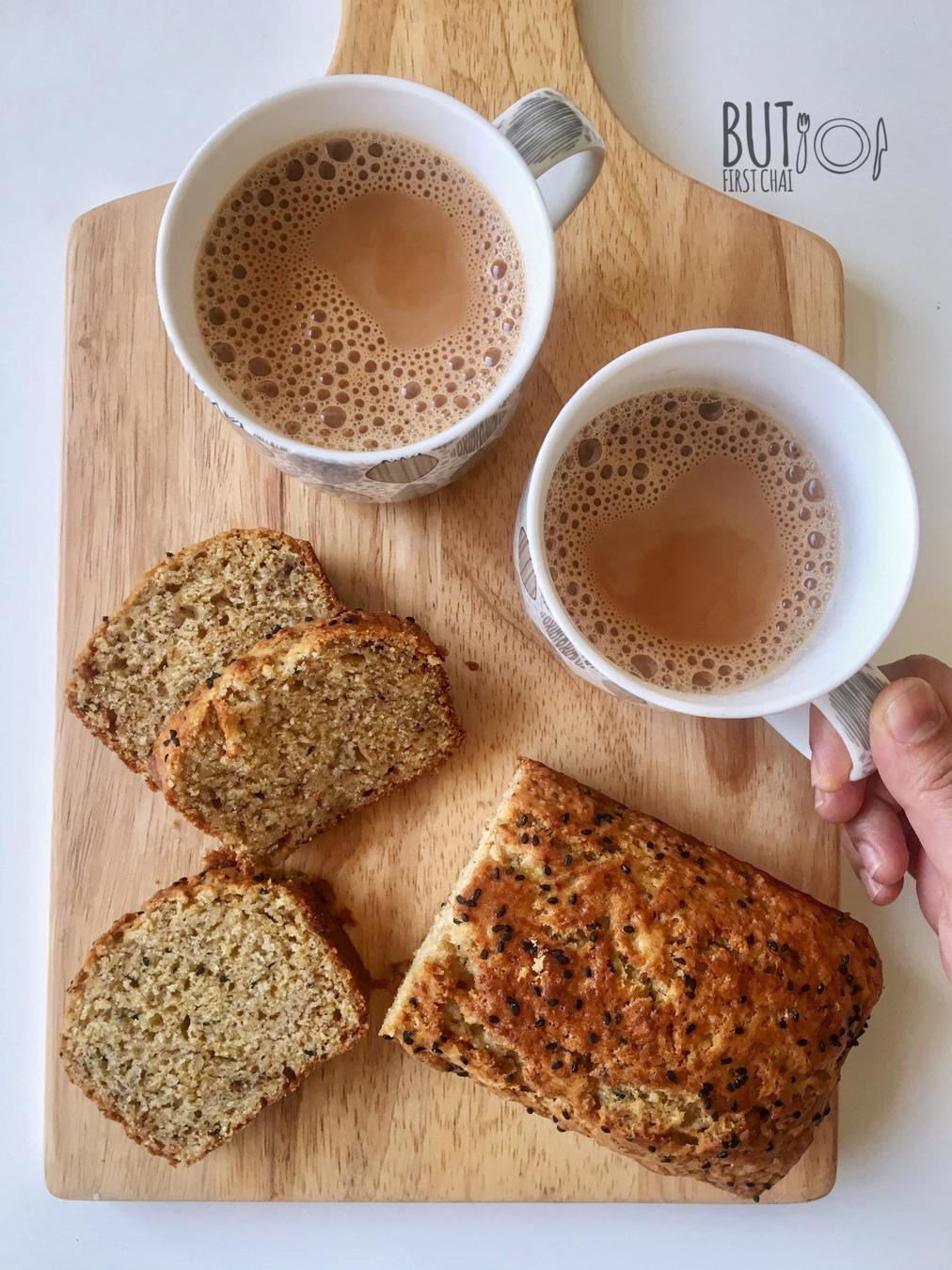 Banana Bread with Aniseed and Nigella seeds | First bake in my new Oven