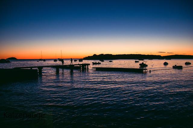 Sonnenuntergang, Meer, Steg