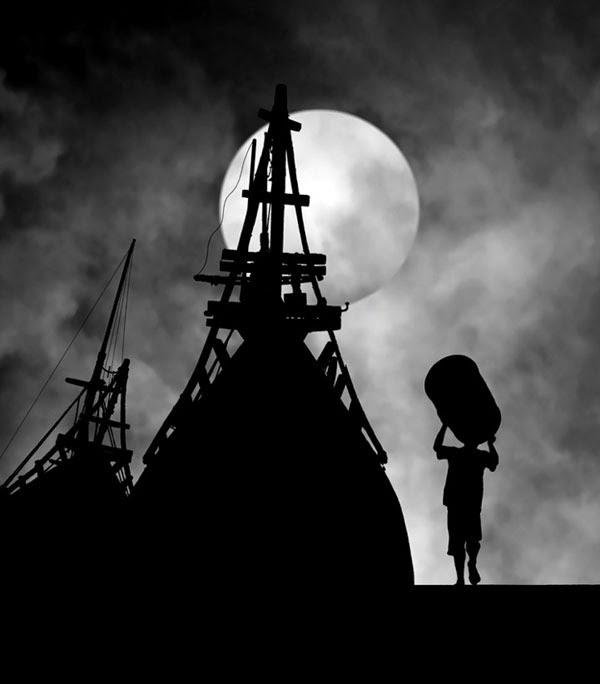 fotografi hitam putih dramatis