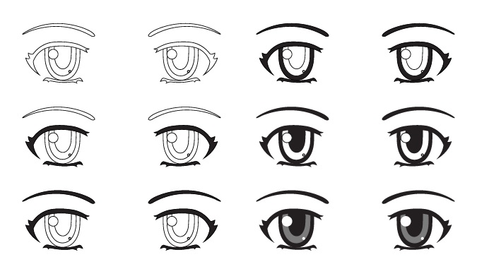 menambah shading pada mata
