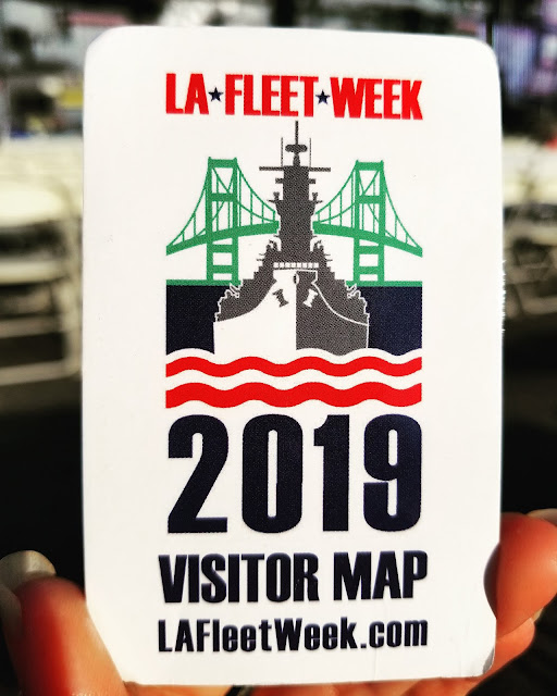 LA Fleet Week 2019 Visitor Map LA Waterfront San Pedro Port of Los Angeles, California