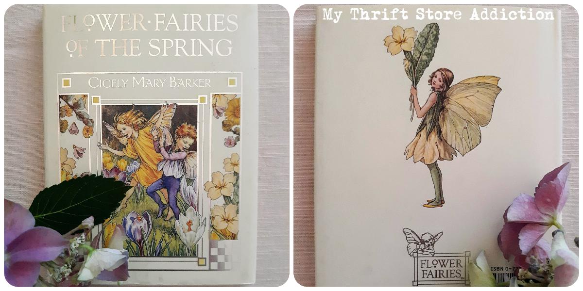 vintage flower fairy book