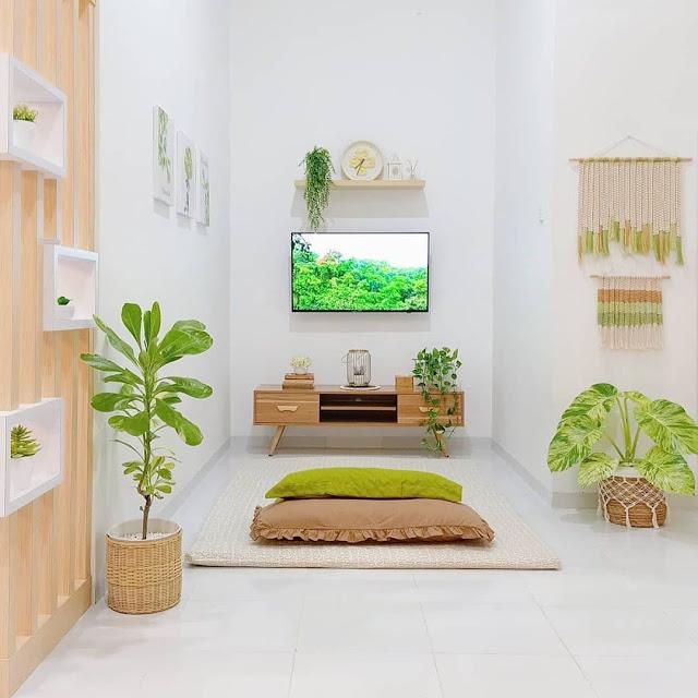 Desain Ruang Keluarga Minimalis dengan Dekorasi Alami