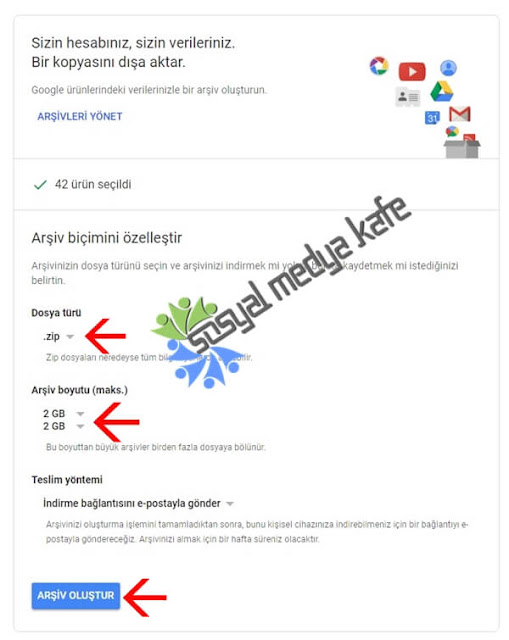 Google Plus Verilerini İndirin