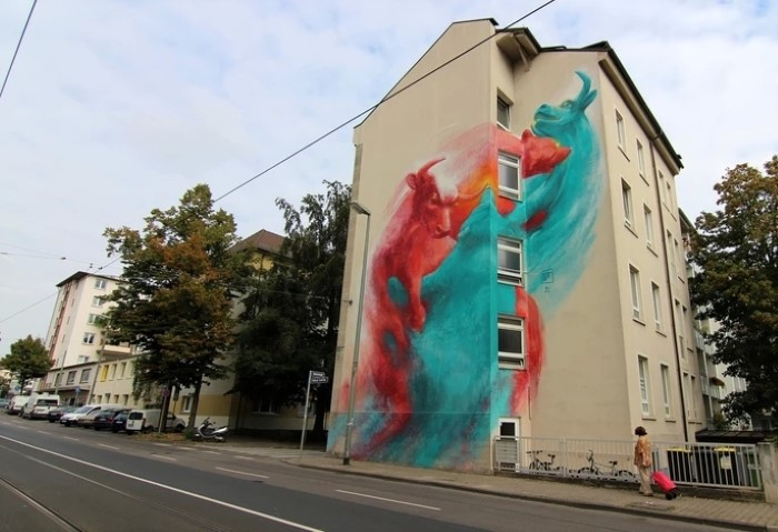 Немецкий уличный художник. Guido Zimmermann