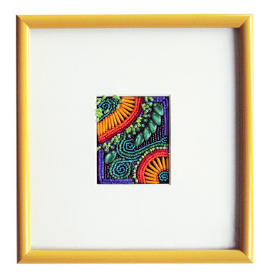 how to frame bead embroidery, framed beadwork by Robin Atkins