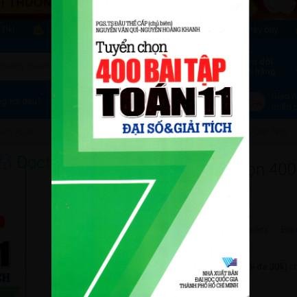 Tuyển Chọn 400 Bài Tập Toán Lớp 11 - Đại Số & Giải Tích ebook PDF-EPUB-AWZ3-PRC-MOBI