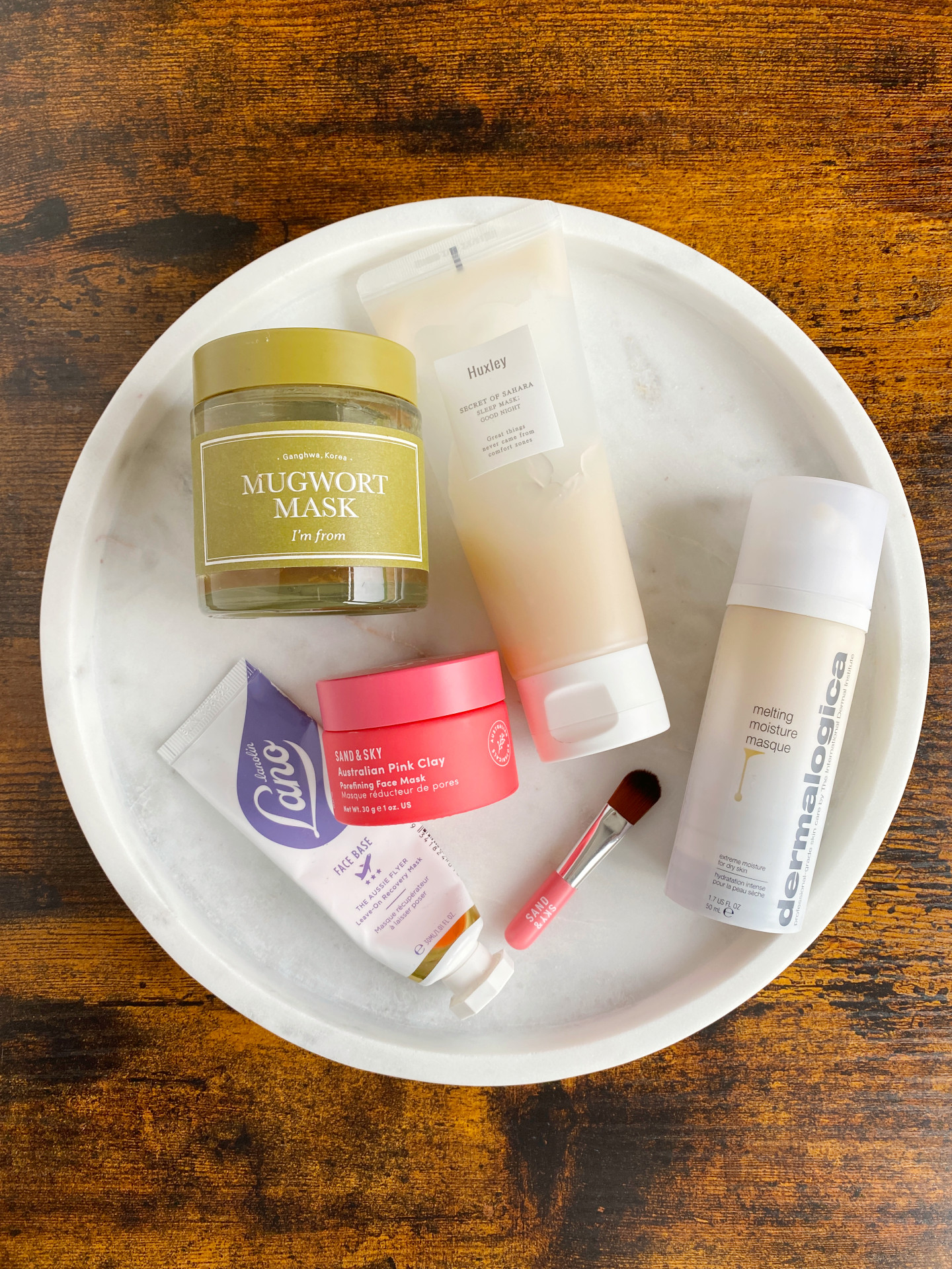five facemasks review lanolips dermalogica sand&sky i'm from huxley