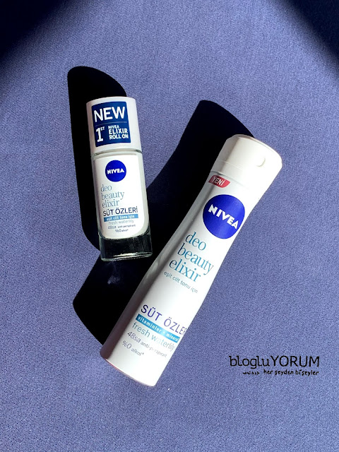 Nivea Deo Beauty Elixir süt özleri Fresh Waterlily deodorant roll on