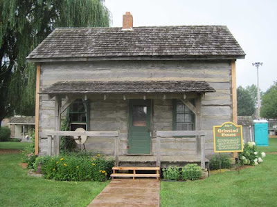 1857 log cabin, the Grinstad House