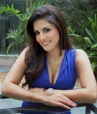 sunny leone in blue dress for video, flim and pictures