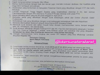 Bank BRI Kanca Simpang Empat - Pasaman Frontliner dan PA Administrasi sd Rabu 27 Maret 2019