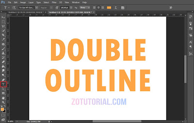 Tutorial Membuat Double Garis Outline di Photoshop (Garis Ganda) Tulisan