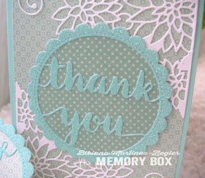 a thank you set card detail