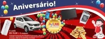 Promoção AYUMI Supermercados Aniversário Carro e Muitos Prêmios