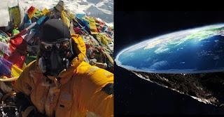 Selfie στο Έβερεστ διαψεύδει όλους αυτούς που πιστεύουν ότι η γη είναι επίπεδη