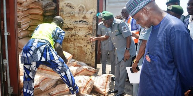 Customs seized 33 containers of expired rice