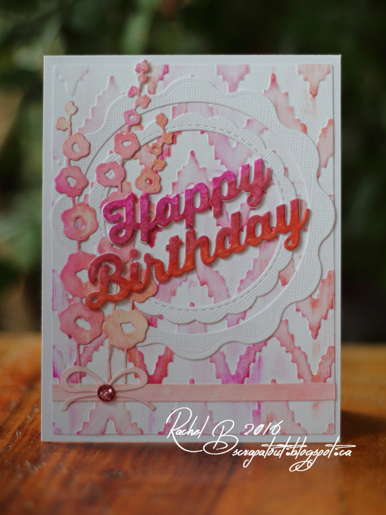 Scrapatout - Handmade card, Birthday, Impression Obsession dies, We R Memory Keepers embossing folder