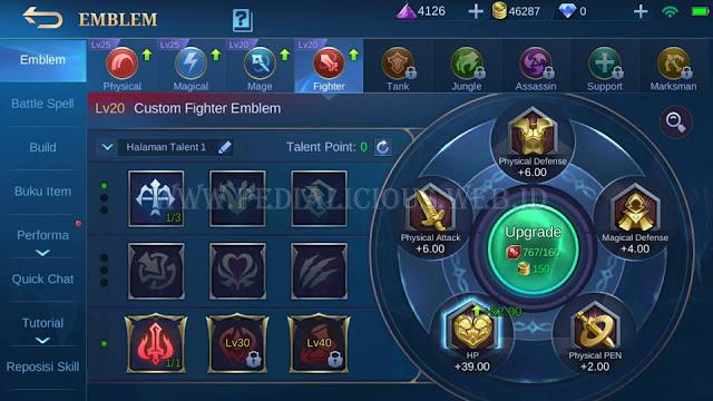 Tukar Battle Points dengan Emblem