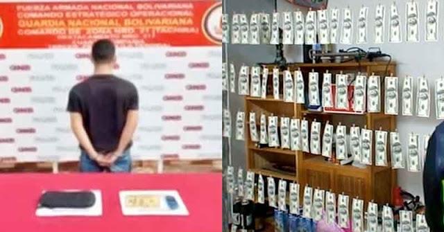 Detenido en Mérida por tener una plantilla para falsificar billetes de 100 dólares