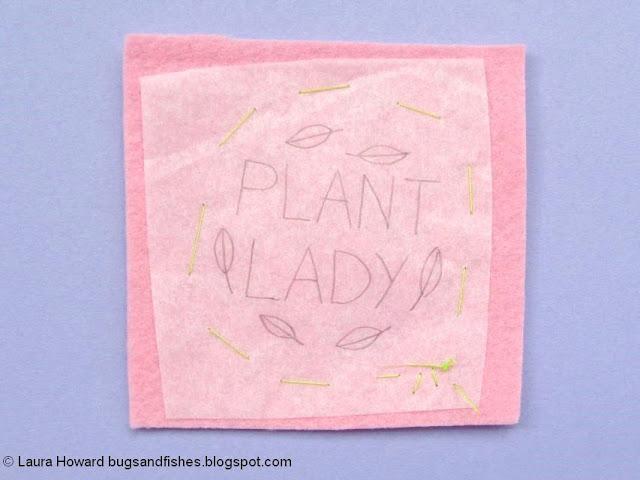 Felt Plant Lady Brooch Tutorial: trace the pattern
