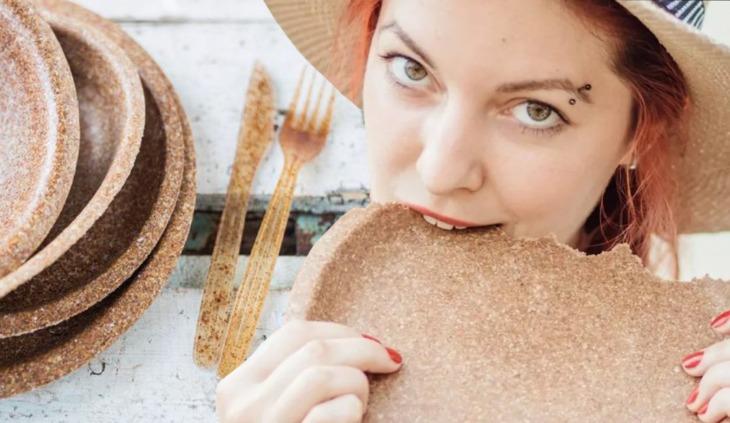 Crean cubiertos que puedes comer al terminar de usarlos