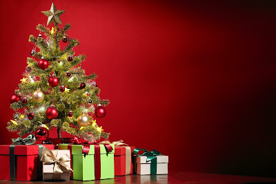 Christmas gifts and trees