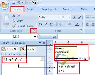 Menyalin Angka atau Teks Dari Isi Cell Kedalam Kotak Komentar Excel