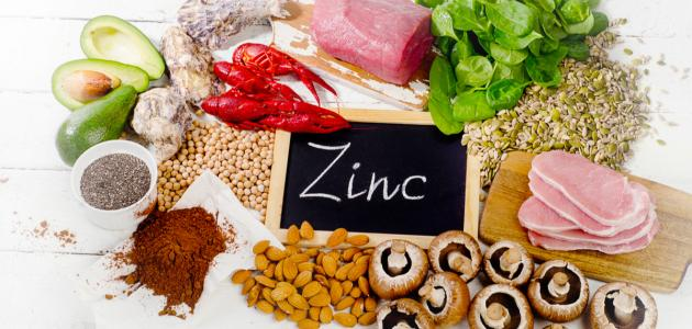 Where is zinc found in food?