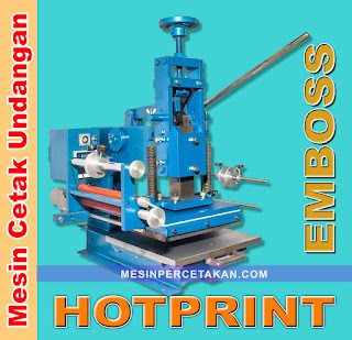 Mesin Cetak Undangan  Hot Print - Emboss MANUAL
