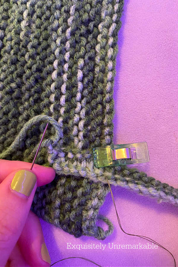 Sewing Straps Onto Knit Top