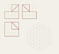 Figura 11  Trazado de piezas en isométrico dadas sus vistas