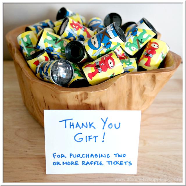 Raffle Fundraiser Bonus Gift Idea | 3 Garnets & 2 Sapphires