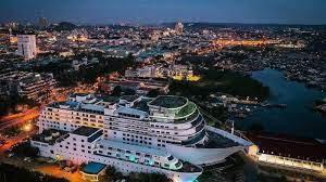 Cruise Ship Shaped Lodging, Pacific Palace Hotel Batam