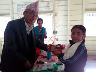 Result cum prize distribution at gram sevak primary school mungpoo