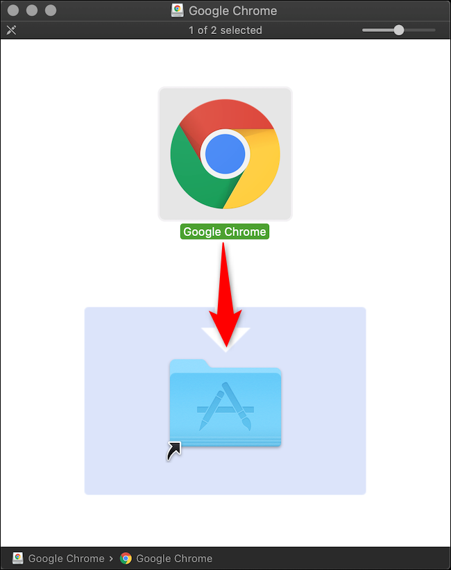 macOS تثبيت Chrome