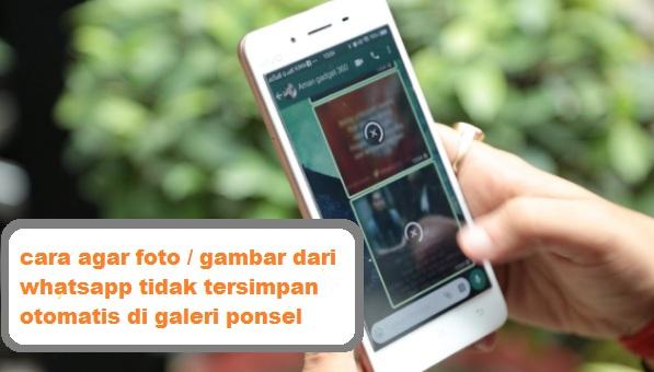 Cara Agar Foto Dari Wa Tidak Tersimpan Otomatis Ke Galeri Android Nggatekno