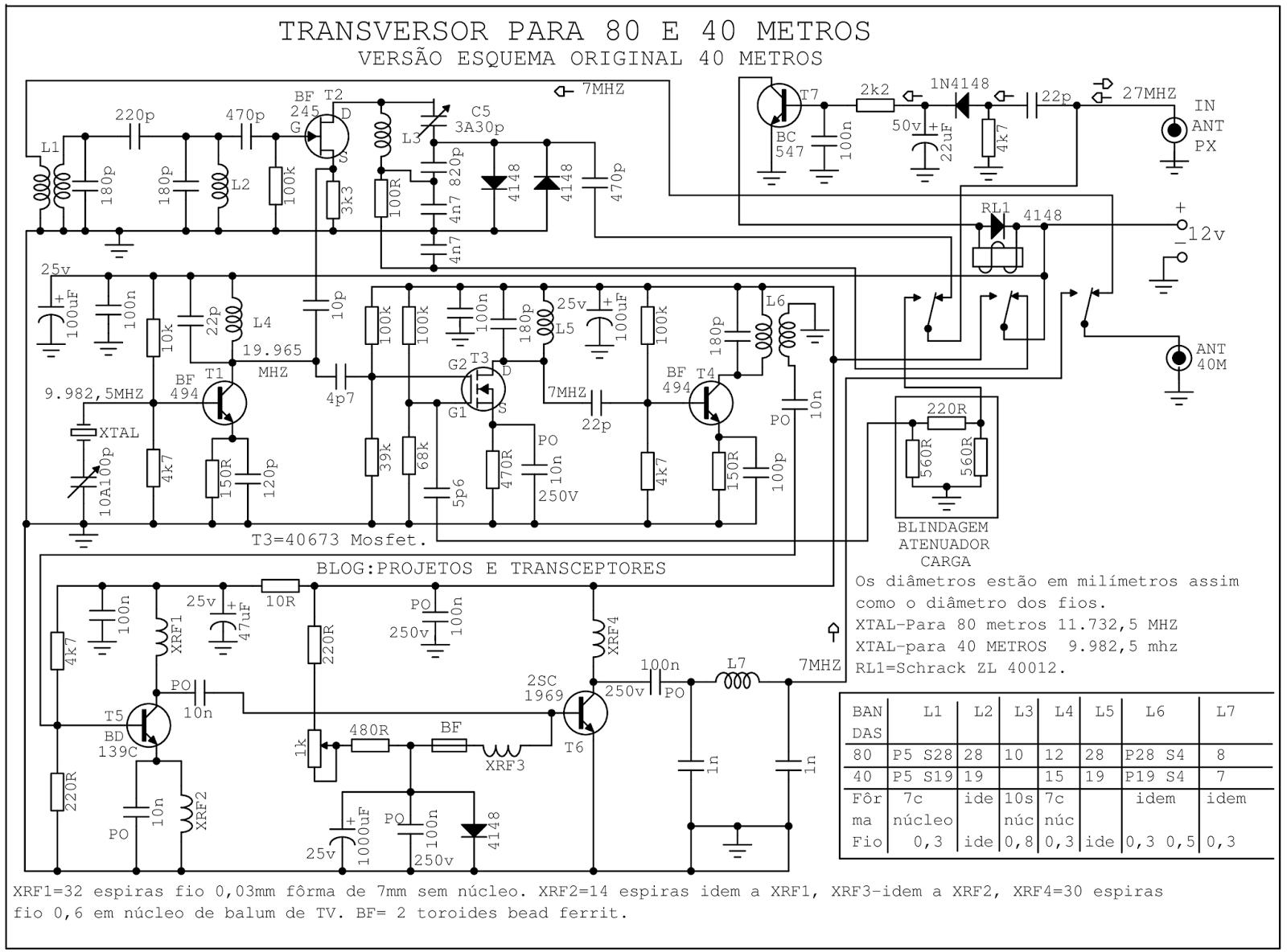 Projetos E Transceptores Transvert 11 Metros Para 80 E