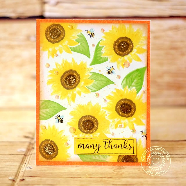 Sunny Studio Stamps: Sunflower Fields Thank You Card by Lexa Levana